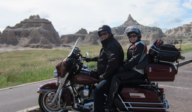 travelling around North America on his Harley Davidson