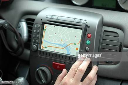 a user is setting the gps on his car
